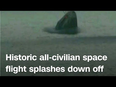 SpaceX capsule returns four civilians from orbit, capping off first ...