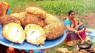 Tasty Eggs Potato Kababs Recipe | Egg Cutlet Recipes | How To Make Egg Potato Chops In My Village