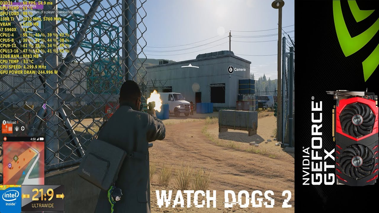Watch Dogs 2 Ultra Settings 3440x1440 | MSI GTX 1080 Ti Gaming X | i7 5960X 4.3GHz