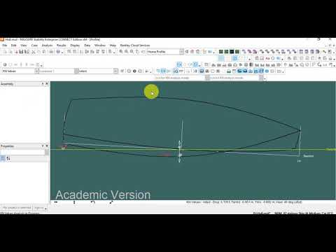 Maxsurf Stability Tutorial 2   Hydrostatics, Large Angle Stability, KN Curves, Floodable Length & Da