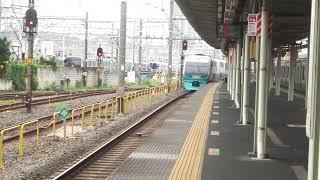 251系回送列車尾久駅通過シーン
