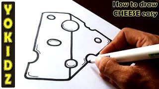 How to draw CHEESE easy