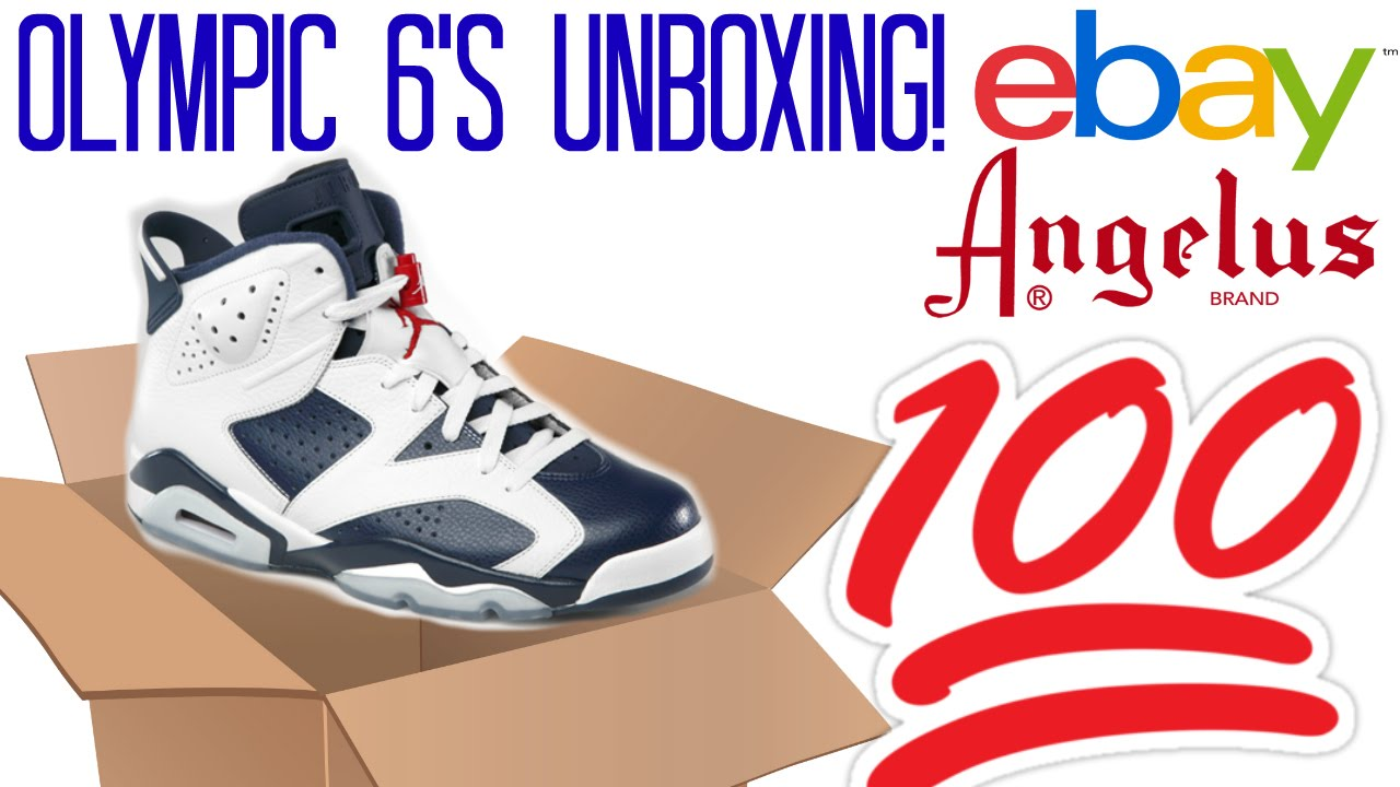 Jordan Olympic 6s from ebay And Paint From Angelus Direct! - YouTube