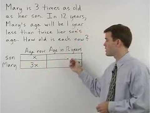 Help solving word problems in algebra
