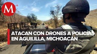 Atacan con explosivos desde supuesto dron a policías de Michoacán