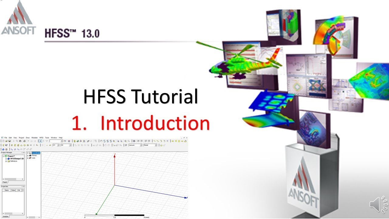HFSS Introduction | Lesson-1 | Tutorial on HFSS
