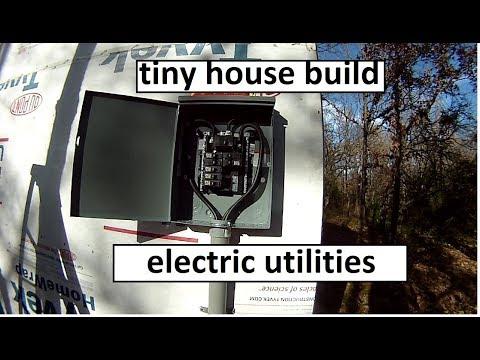 Tiny House Build Pt. 13 - Electric Utilities