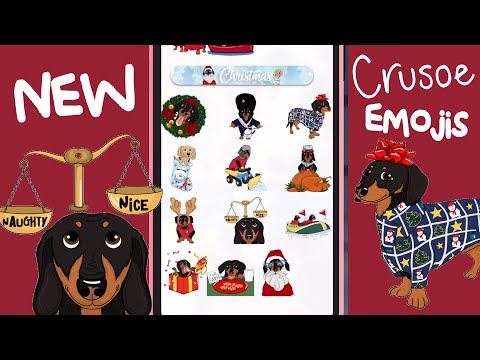 New Crusoe Christmas Emojis & Photo Editor Out Now On My App!
