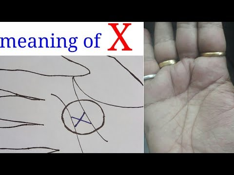 Mystery  of letter X in Palm. यह रेखा बहुत अच्छी  होती हे. धर्मिक,leadership qualities  and etc.