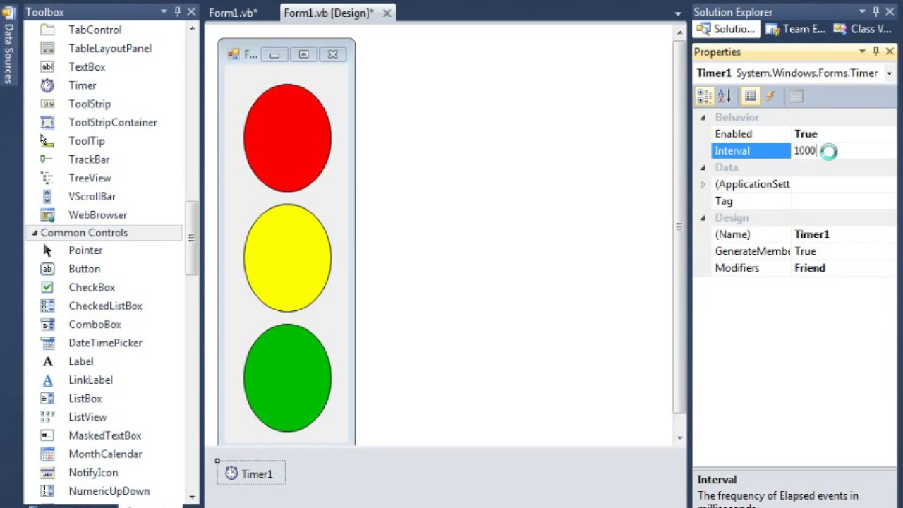 Create traffic signal using timer control in vb net