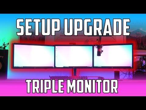 triple-monitor-setup-for-340$-!---vivo-triple-monitor-adjustable-desk-mount.