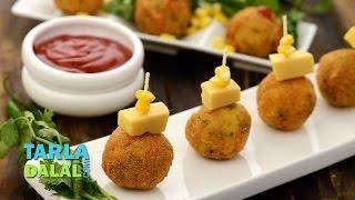 Corn Cheese Balls By Tarla Dalal