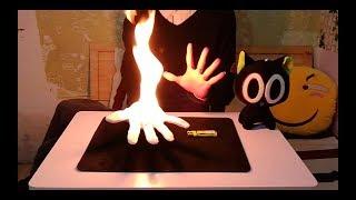 魔術揭秘:電影中的掌上火!熊熊烈焰卻毫發無傷?(In the movie the secret magic: palm fire! Fire unharmed?)