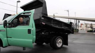 Town and Country Truck #5838: 2002 FORD F550 2.5-3 Yard Steel Box Dump Truck