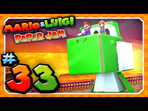 Papercraft Mario and Luigi: Paper Jam - Part 33: Papercraft Yoshi vs Papercraft King Boo!