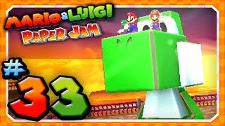 Mario and Luigi: Paper Jam - Part 33: Papercraft Yoshi vs Papercraft King Boo!