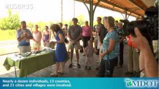 U.S. Bicycle Route 35 opening event in Traverse City
