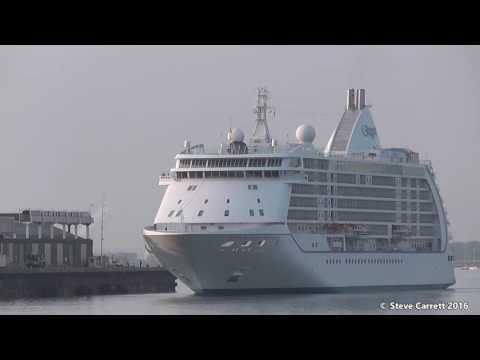 Five early morning Cruise Ship Arrivals Southampton inc Astoria 06/06/16