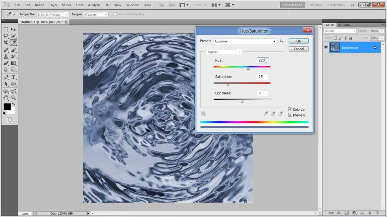 How to create a water surface background in Photoshop ...