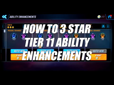 How to 3 Star Tier 11 Ability Enhancements Challenge - Marvel Strike Force