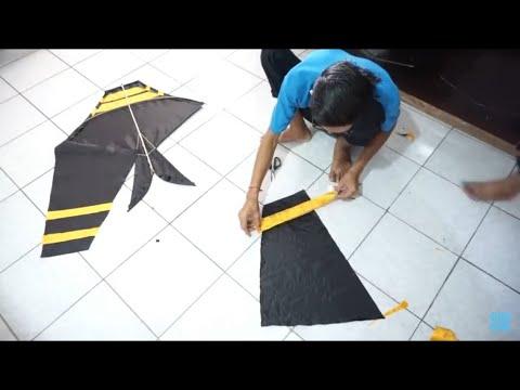 Membuat Layangan Cotek Dan Tes Terbang - Layang Layang Bali