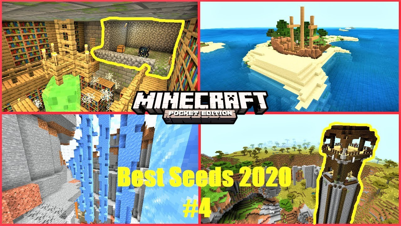 Best Seeds To Use In 2020 4 Minecraft Pe Shipwreck On Island Cloud Outpost More Mcpe 1 14 Youtube