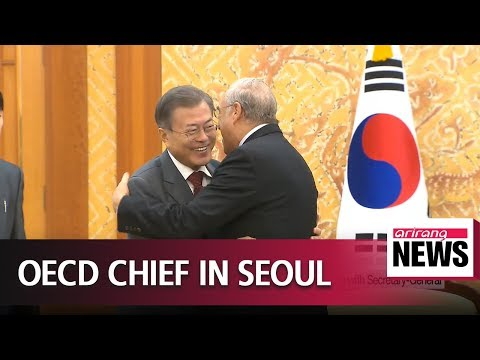 Pres. Moon calls for more cooperation with OECD in meeting with Secretary-General