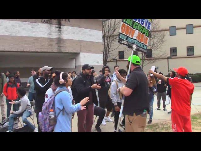 Hateful & Intolerant Students at Georgia State University - Open Air Preaching - Kerrigan Skelly