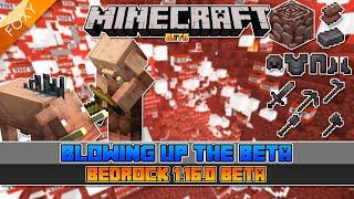 I BLEW UP The Minecraft Beta | Minecraft Bedrock 1.16.0.51 | Minecraft Bedrock Edition Beta Testing