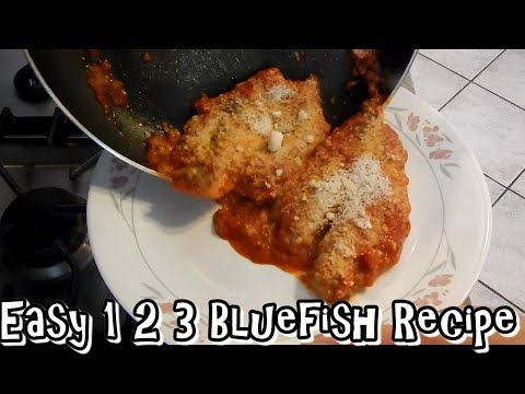 Quick , Easy Bluefish Recipe , You Won't Believe It's Bluefish & Striped Bass