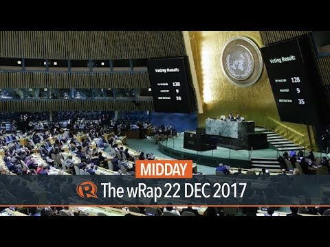 Philippines abstains from UN vote on Jerusalem