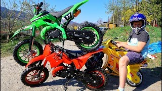 Thomas play with Toy Cross Bikes - Collection video for kids Magic