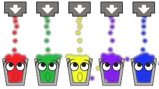 Learn Colors for Children with Happy Glass - Red Green Yellow Purple Blue