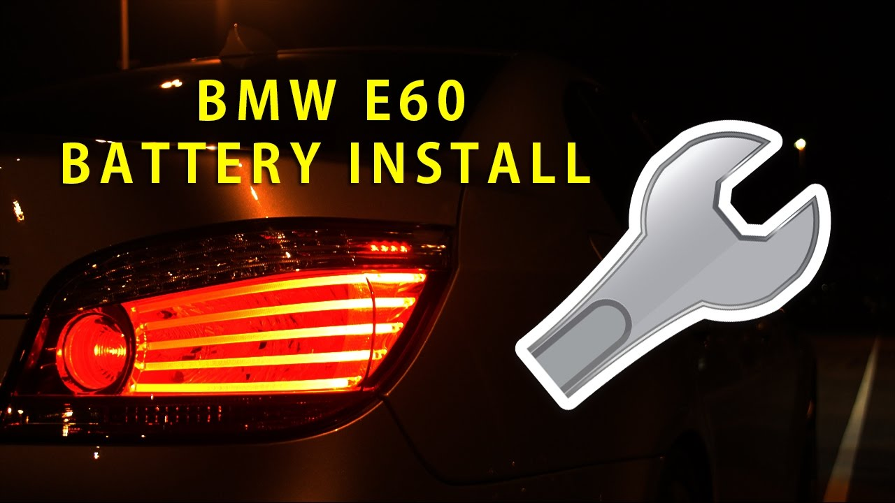 Installing A New Battery On A E60 M5 Youtube
