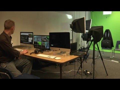 On-Campus Video Broadcast Studio Test
