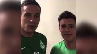 Gratulation von Raphael Wolf und Zlatko Junuzovic (beide SV Werder Bremen) | ELBKICK.TV