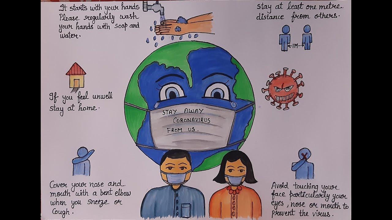 Drawing of save world from CORONAVIRUS l Coronavirus ...