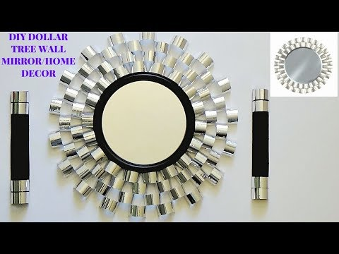 DIY GLAM/ELEGANT DOLLAR TREE WALL MIRROR/HOME DECOR