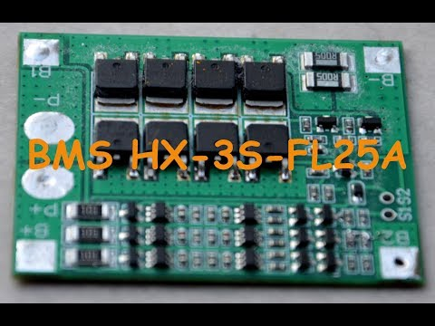 Контролер BMS HX-3S-FL25A и проблемы с ним