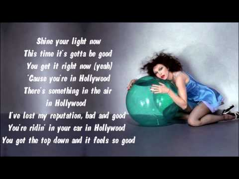 Madonna - Hollywood Karaoke / Instrumental with lyrics on screen
