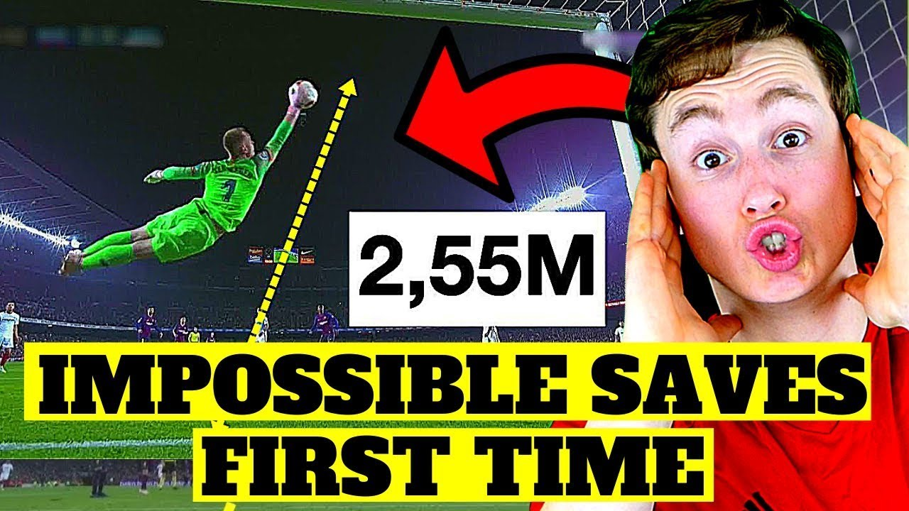 AMERICAN REACTS TO IMPOSSIBLE SAVES IN SOCCER/FOOTBALL (absolutely incredible...)