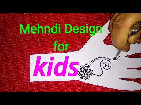 Easy Simple Kids Mehndi Design    Mehndi Designs For Babies