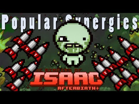 The Binding of Isaac Afterbirth Plus | Model Rocket Missile Barrage! | Popular Synergies!