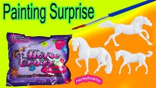 Breyer Stablemate Horse Crazy Surprise Painting Kit Mystery Blind Bag Opening Custom Horses 2015 Toy