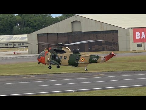 Westland WS-61 Sea King Mk48 Belgian Air Component arrival at RIAT 2017 AirShow