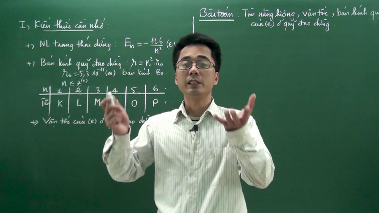 Luyện thi THPT quốc gia 2020 – Tìm năng lượng, vận tốc, bán kính quỹ đạo của electron ở quỹ đạo dừng
