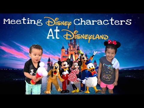 MEETING DISNEY CHARACTERS & PRINCESSES at Disneyland