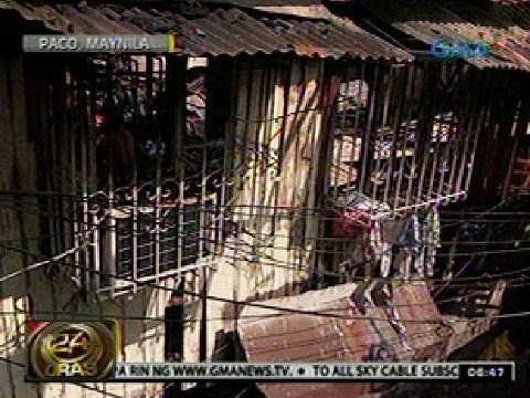 24 Oras: Aabot sa 60 pamilya sa Paco, Manila, nasunugan