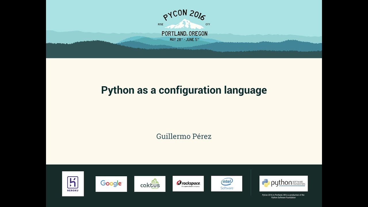 Image from Python as a configuration language