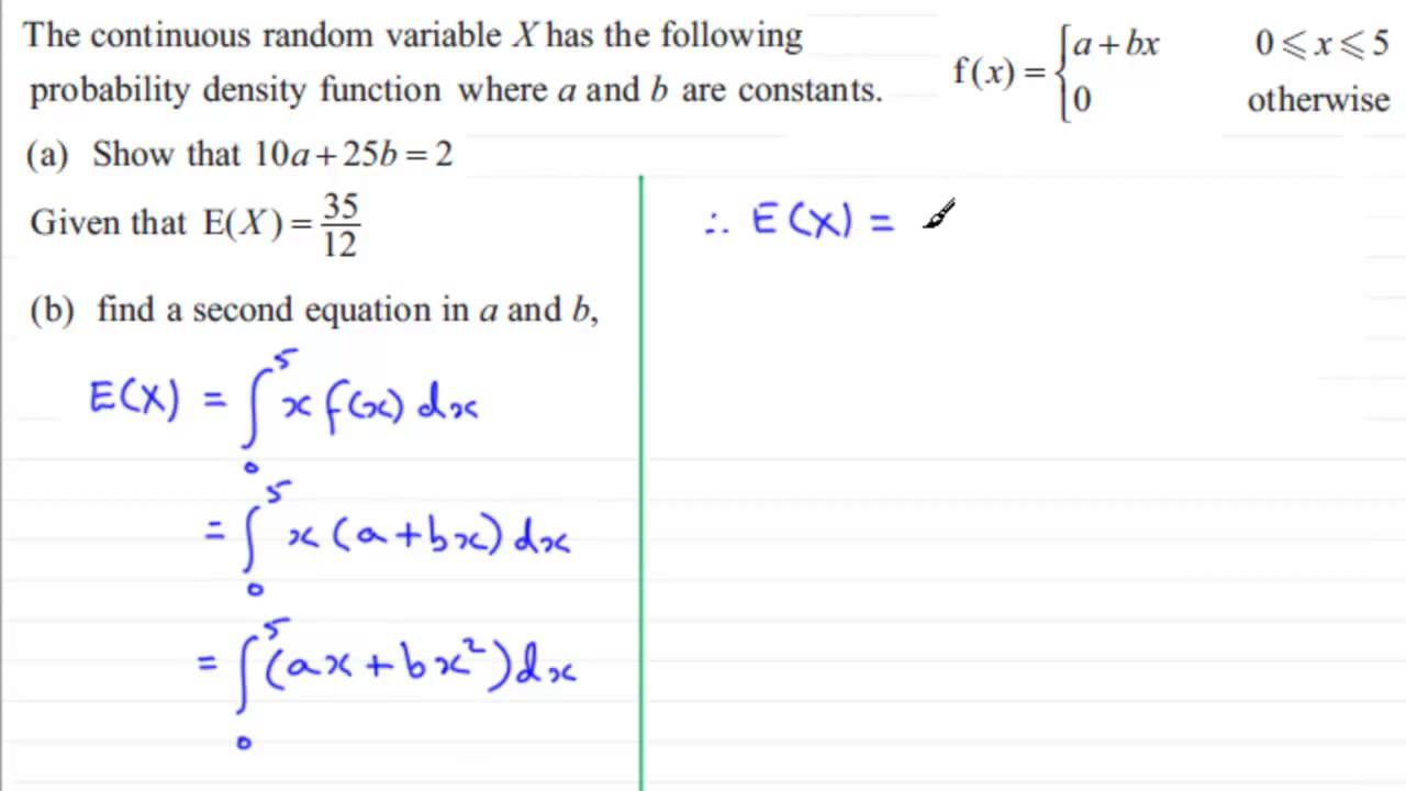 E X From A Pdf S2 Edexcel January 2013 Q7 B Examsolutions
